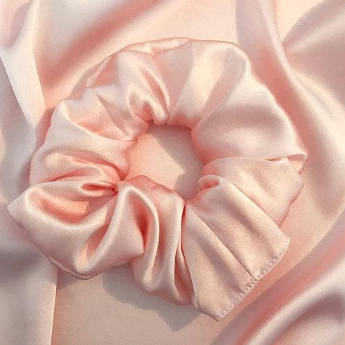 Shell Pink Silk Astrid Super Scrunchie