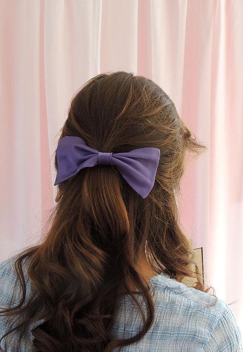Purple Silk Lily Hair Bow
