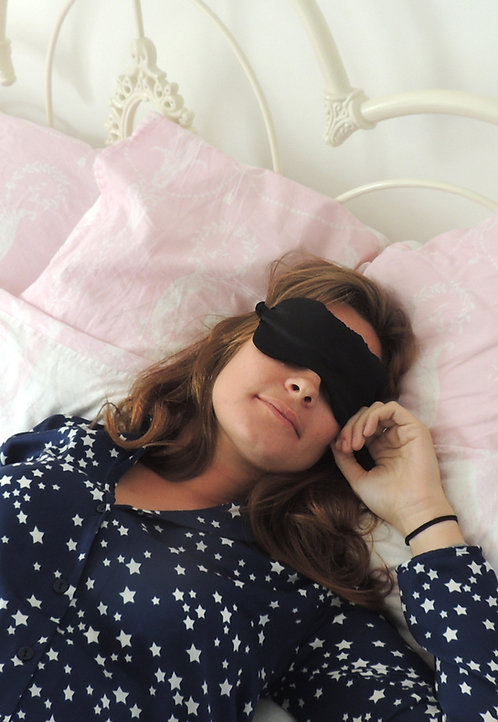 Onyx Silk Beth Eye Mask