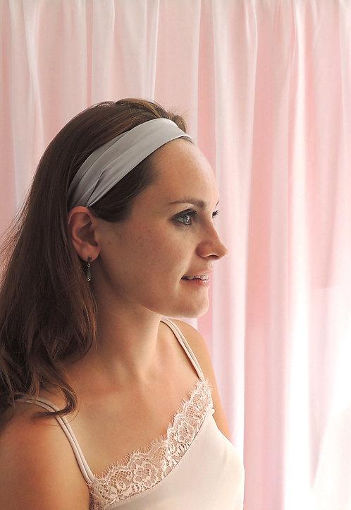 Pale Grey Silk Anya Headband