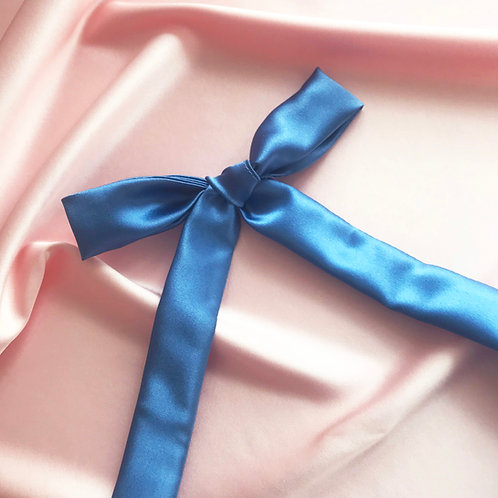 Cornflower Blue Silk Tess Hair Ribbon