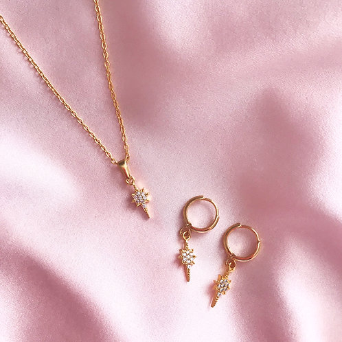 Pleiades Star Necklace and Earring Set