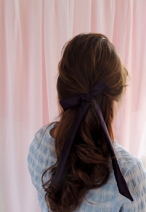 Amethyst Silk Tess Hair Ribbon