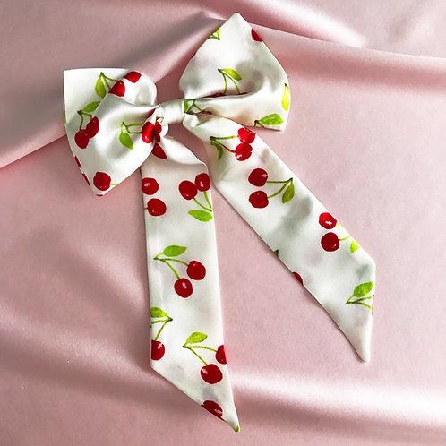 Summer Cherry Print Euphrasie Hair Bow