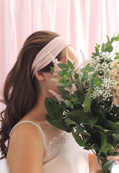 Oyster Pink Silk Anya Headband