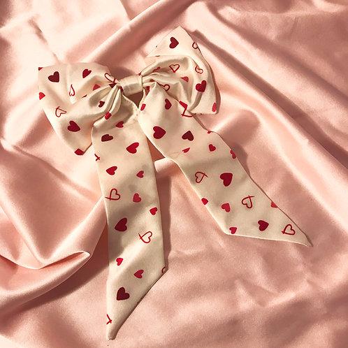 Heart Print Euphrasie Hair Bow