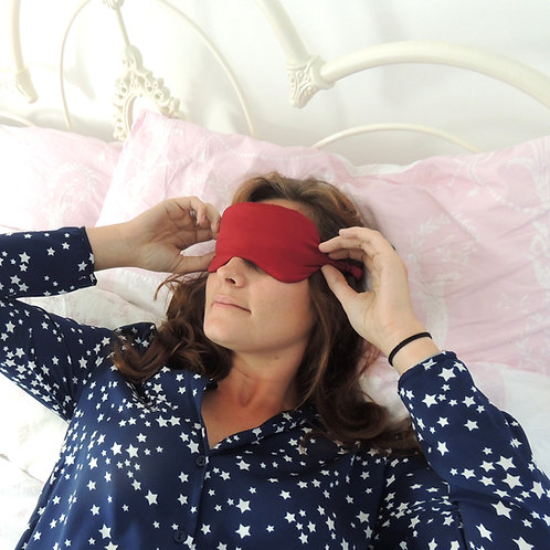 Burgundy Silk Beth Eye Mask