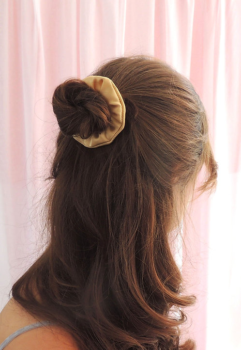 Gold Silk Mini Astrid Scrunchie
