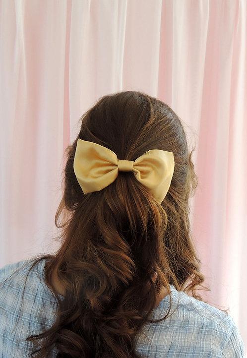 Gold Silk Lily Hair Bow