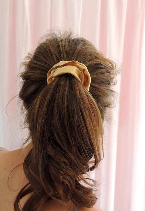 Gold Silk Astrid Scrunchie