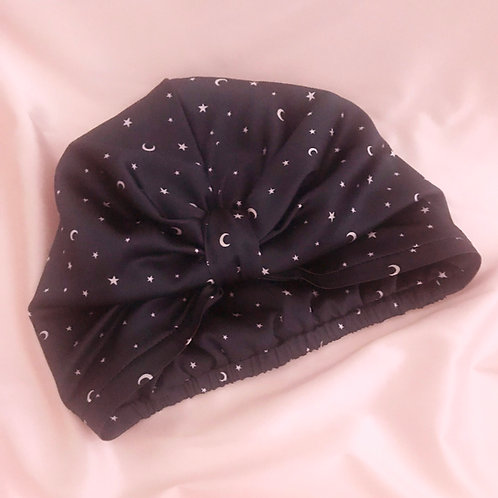 Made to Order Star Print Silk Capuchon