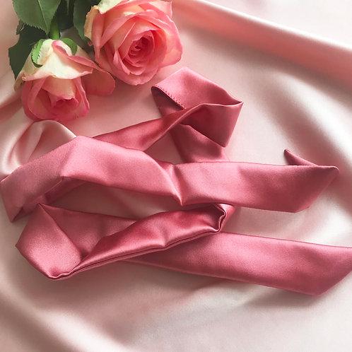 Rose Petal Pink Silk Tess Hair Ribbon