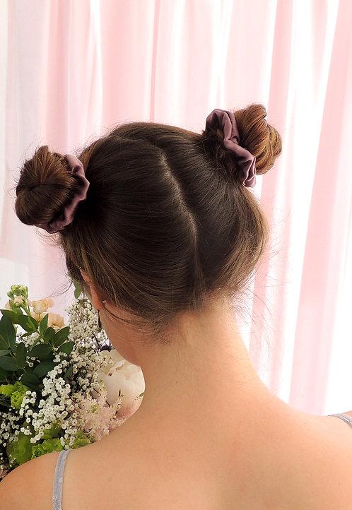 Dusk Purple Silk Mini Astrid Scrunchie