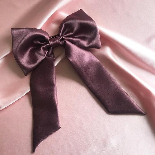 Dusk Purple Silk Euphrasie Hair Bow