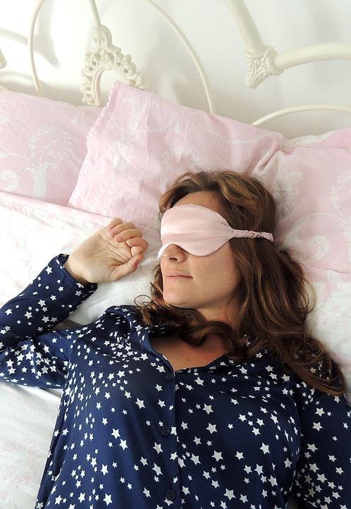 Oyster Pink Silk Beth Eye Mask
