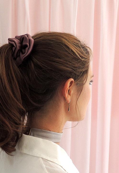 Dusk Purple Silk Astrid Scrunchie