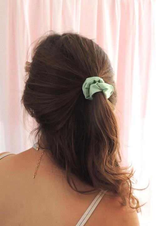 Mint Silk Mini Astrid Scrunchie