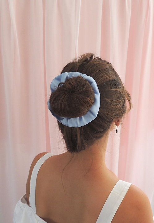 Pale Blue Silk Astrid Scrunchie