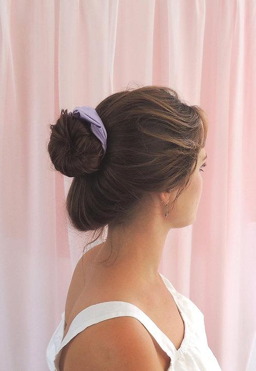 Lilac Silk Astrid Scrunchie