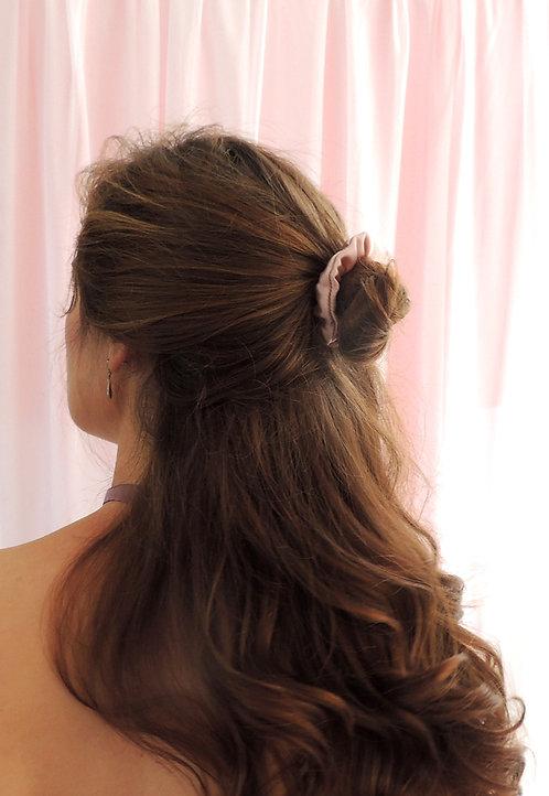 Oyster Pink Silk Mini Astrid Scrunchie