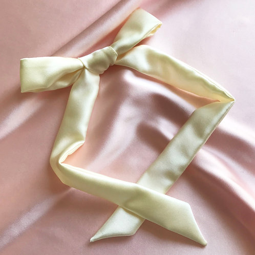 Buttercream Silk Tess Hair Ribbon
