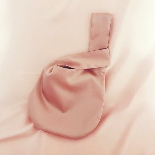 Oyster Pink Silk Mini Emilia Bag