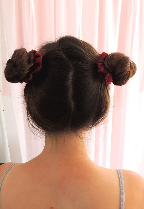 Burgundy Silk Mini Astrid Scrunchie