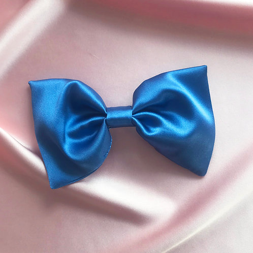 Cornflower Blue Silk Lily Hair Bow