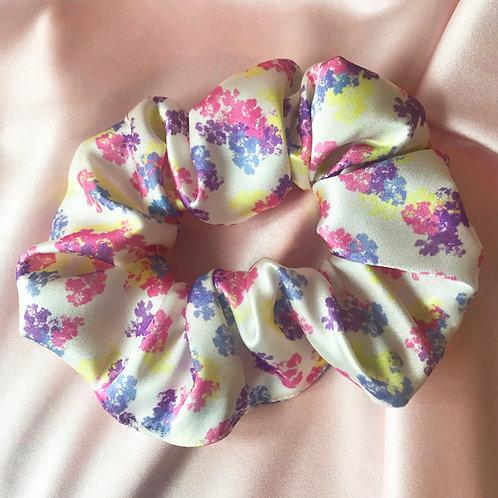 Floral Print Silk Super Scrunchie