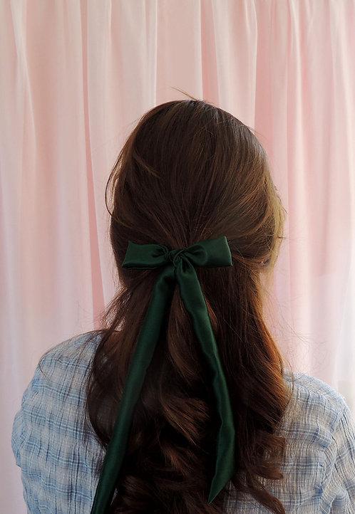 Emerald Silk Tess Hair Ribbon