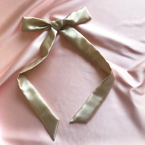 Champagne Silk Tess Hair Ribbon