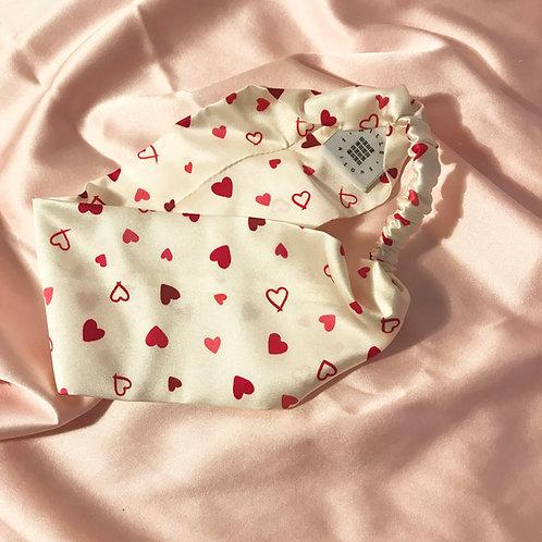 Heart Print Silk Anya Headband