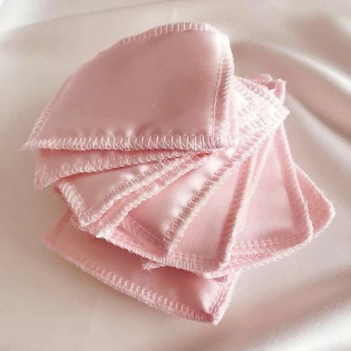 14 Pink Silk Face Pads