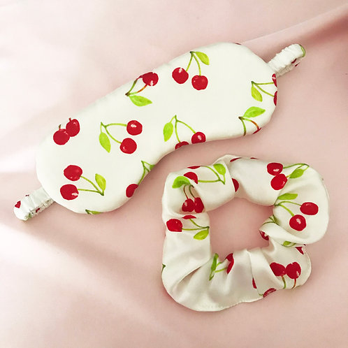 Cherry Silk Sleep Set