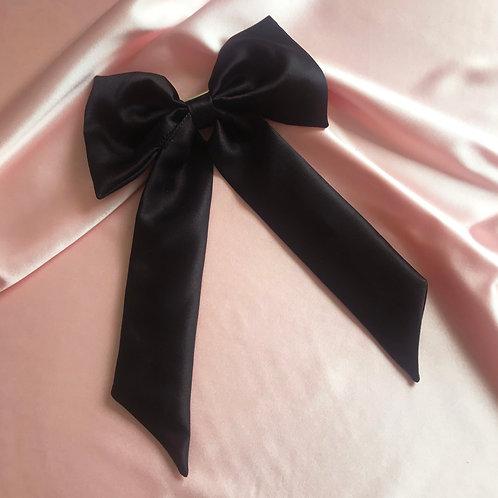 Onyx Silk Euphrasie Hair Bow