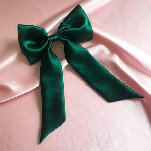 Emerald Silk Euphrasie Hair Bow