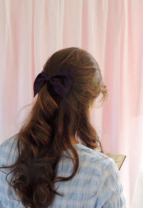 Amethyst Silk Lily Hair Bow