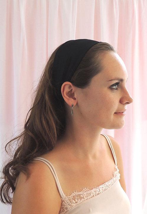 Onyx Silk Anya Headband