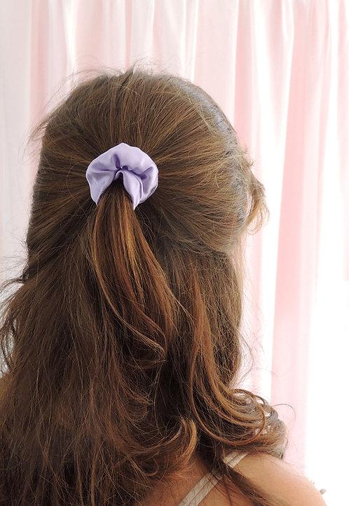 Lilac Silk Mini Astrid Scrunchie