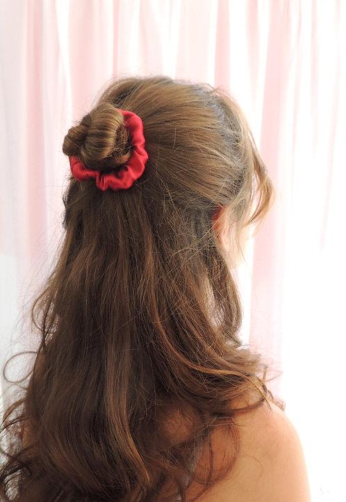 Ruby Silk Mini Astrid Scrunchie