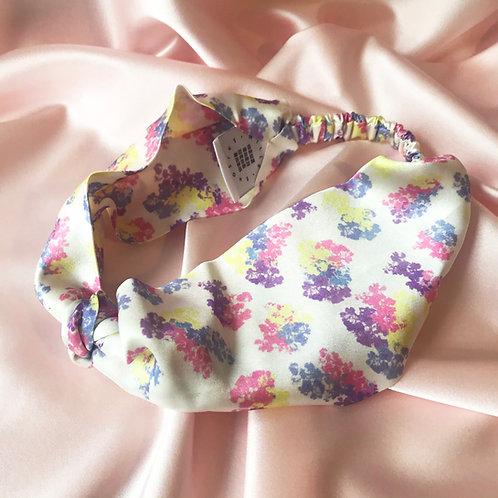 Floral Print Silk Knot Headband