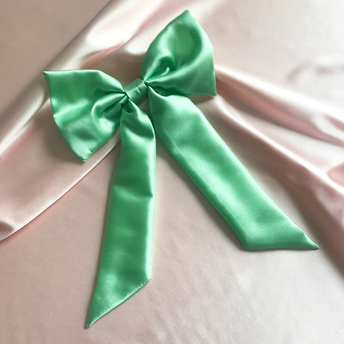 Mint Silk Euphrasie Hair Bow