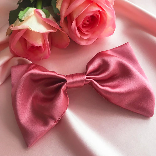 Rose Petal Pink Silk Lily Hair Bow