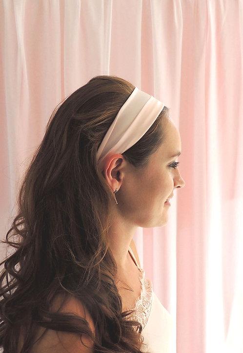 Shell Pink Silk Anya Headband