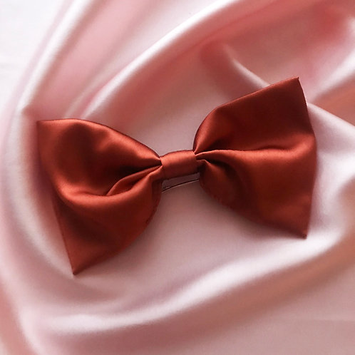 Conker Silk Lily Hair Bow