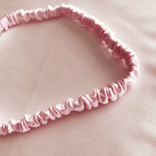 Pink Silk Spa Headband