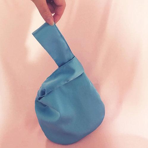 Pale Blue Silk Mini Emilia Bag