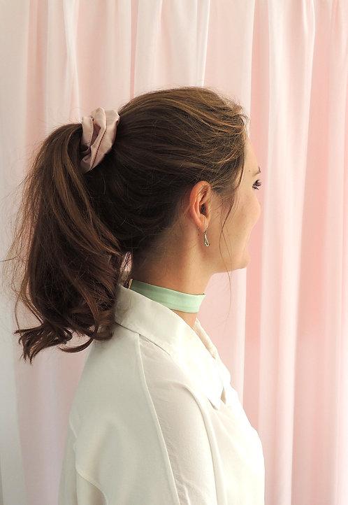 Oyster Pink Silk Astrid Scrunchie