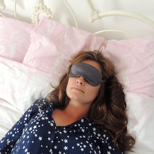 Dark Grey Silk Beth Eye Mask