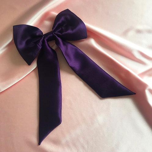 Amethyst Silk Euphrasie Hair Bow